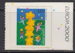 Europa Cept 2000 Germany 1v (self Adhesive Stamp) ** Mnh (41671) - Europa-CEPT
