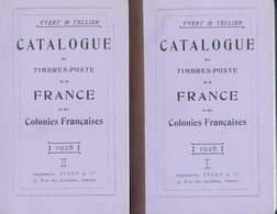 CATALOGUE YVERT & TELLIER FRANCE ET COLONIES 1928 EN 3 VOLUMES COPIE - France