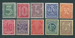 MiNr. D 23-33 ** - Unused Stamps