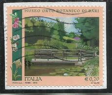 ITALIA REPUBBLICA ITALY REPUBLIC 2013 PARCHI GIARDINI ORTI BOTANICI MUSEO ORTO BOTANICO DI BARI € 0,70 USATO USED OBLIT - 6. 1946-.. Repubblica