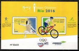 Costa Rica 2016 / Olympic Games Rio De Janeiro MNH Juegos Olímpicos Olympische Spiele / Cu10733  4 - Verano 2016: Rio De Janeiro