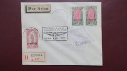 Lettre Recommandé De Douala Cameroun Pour La France Griffe 1ere Courrier Aérien Cameroun France 22 Mai 1937 - Cameroun (1915-1959)