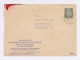 Dienstpost 20Pfg Staatswappen Auf Umschlag Regierung Der DDR TSt BERLIN 1957 - DDR