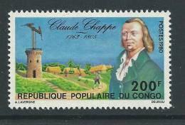 Congo N° 571 X Hommage à Claude Chappe,  Trace De  Charnière Sinon TB - Congo - Brazzaville