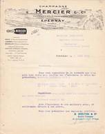 51.Epernay. Champagne Mercier Confirmation De Commande Du 7.06.1934 Pour Bourgougnan Fleurance - France