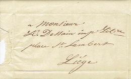 Précurseur Lettre Du 22/1/1847 Envoyée Par Porteuse De STAVELOT à LIEGE - Signé BREDA à STAVELOT - 1830-1849 (Belgique Indépendante)