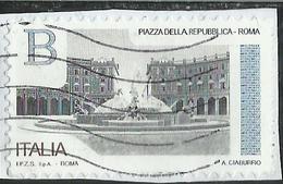 ITALY REPUBLIC ITALIA REPUBBLICA 2016 PIAZZE D'ITALIA PIAZZA DELLA REPUBBLICA ROMA B USATO USED OBLITERE' - 6. 1946-.. Repubblica