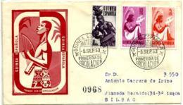 Guinea Española Nº 325/6 Y 328 En Sobre - Guinea Española