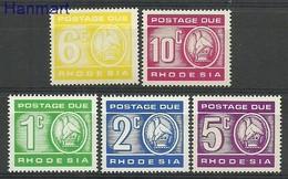 Rhodesia 1980 Mi 16-20 MNH ( ZS6 RHDpor16-20 ) - Sin Clasificación