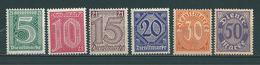 MiNr. D 16-21 ** - Unused Stamps