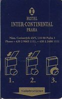 REPUBBLICA CECA KEY HOTEL   InterContinental Praha - Hotel Keycards