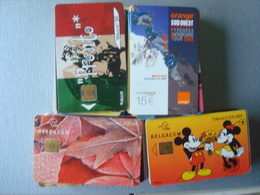 Lot De +/- 90  Cartes Différents Pays Mais Bcp De Belgique - Télécartes