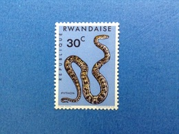 1967 RWANDA REPUBLIQUE RWANDAISE FAUNA SERPENTI PYTHON 30 C FRANCOBOLLO NUOVO STAMP NEW MNH** - Rwanda