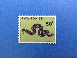 1967 RWANDA REPUBLIQUE RWANDAISE FAUNA SERPENTI BITIS 50 C FRANCOBOLLO NUOVO STAMP NEW MNH** - 1962-69: Nuovi