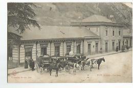 09 Foix La Gare Animée Attelage - Foix