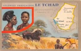 Tchad - Topo / 02 - Carte Illustrée - Tchad