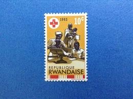 1963 RWANDA REPUBLIQUE RWANDAISE CROCE ROSSA RED CROSS 10 C FRANCOBOLLO NUOVO STAMP NEW MNH** - Rwanda