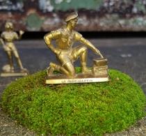 Rare Petite Figurine Plastique Jeune Garçon Scout Café Martin Années 50 - Figurines
