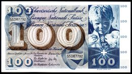 100 Francs - 5ème Série - N° 55D87792 De 1967 - Très Bel état - Suisse
