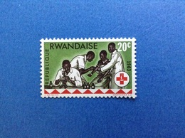 1963 RWANDA REPUBLIQUE RWANDAISE CROCE ROSSA RED CROSS 20 C FRANCOBOLLO NUOVO STAMP NEW MNH** - Rwanda