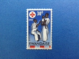 1963 RWANDA REPUBLIQUE RWANDAISE CROCE ROSSA RED CROSS 30 C FRANCOBOLLO NUOVO STAMP NEW MNH** - Rwanda