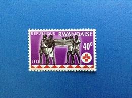 1963 RWANDA REPUBLIQUE RWANDAISE CROCE ROSSA RED CROSS 40 C FRANCOBOLLO NUOVO STAMP NEW MNH** - Rwanda
