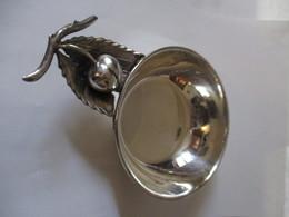 Centro Tavola Porta Caramelle In Argento 925 Con Decorazioni Frutta - Silverware