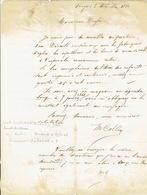TONGEREN - Brief Van  2/12/1860 Verzonden Door Koerier Van TONGRES Naar LIEGE - Getekend Vve COLLEE - Belgique