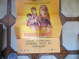 Cinéma Programme Du Festival Robert Enrico Formant Une Affiche Ventura Delon Bourvil Belmondo Avec Textes - Programs