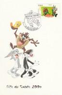 CM - 2009 - FETE Du TIMBRE - Looney Tunes - Vitry En Perthois (51) - Cartas Máxima