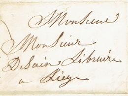 Precurseur- THEUX - Lettre Du 18/4/1850 Envoyée Par Messager De THEUX Vers LIEGE - Signé épouse STASSART - 1830-1849 (Belgique Indépendante)