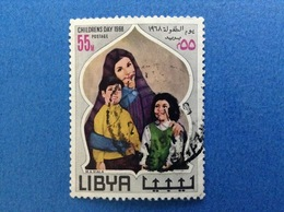1968 LIBIA LIBYA CHILDREN'S DAY GIORNATA DEL FANCIULLO 55 M FRANCOBOLLO USATO STAMP USED - Libye