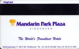 OLANDA   KEY HOTEL Mandarin Park Plaza Eindhoven  - HERTZ - Hotel Keycards