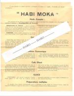 """Feuille Publicitaire Avec Recette Pour """" HABI MOKA """" Texte Néerlandais Au Verso  - Cuisine, Pâtisserie,...(b244) - Publicités"""