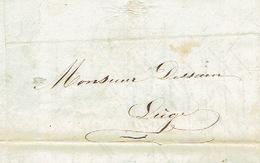 THILDONCK - Brief Van 26/8/1847 Verzonden Door Koerier Van THILDONCK Naar LIEGE - Getekend Dames Ursulines Van THILDONCK - 1830-1849 (Belgique Indépendante)