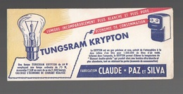 Buvard Lampe Tungsram Krypton Fabrication Claude - Paz Et Silva - Buvards, Protège-cahiers Illustrés