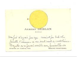 VERVIERS , Carte De Visite De Mr. Albert DEBLON, Avocat .(b244) - Cartes De Visite