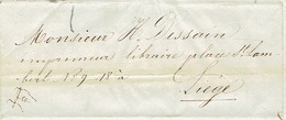 Précurseur Lettre Du 15/3/1847 Envoyée Par Messager De THIMISTER à LIEGE - Signé CHARLIER Instituteur à THIMISTER - 1830-1849 (Belgique Indépendante)