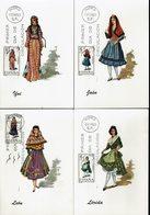 Spanien Espana Spain - Trachten 1969 (12) - MiNr 1793-1795, 1806, 1811, 1815, 1821, 1829-1831, 1839, 1843 - Kostüme