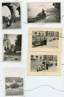 6 PHOTOS . Anciennes Motos, Vespa , Voitures. Moto - Cars