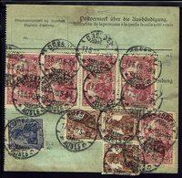 ALLEMAGNE - 1920 - Affr. Varié De Timbres Deutsches Reich Perforés Sur Bulletin D'Expédition De Dresden Vers Interlaken. - Germany