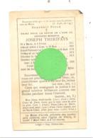 Faire=part De Décès De L'abbé Joseph THIRIFAYS  - Né à XHORIS En 1845  Curé De Bois L'Evêque Et Y Décédé  En 1891 (xh) - Décès