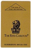 STATI UNITI  KEY HOTEL  The Ritz-Carlton - Hotel Keycards