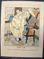 PDGL. 2. Dessin Humoristique Pour Des Noces D'or. Signé Antoine Dejong - Estampes & Gravures