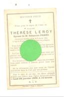 Faire=part De Décès De Mde Thérèse LEROY ép. De S. Pehée - OLNE 1899 (xh) - Décès