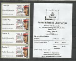ESPAÑA SPAIN ATM MADRID CHAMARTIN 2019 LETRAS 4 TARIFAS CON RECIBO IDIOMAS LANGUAGE - Languages