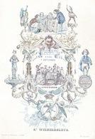 OUDENAARDE PORSELEINKAART 26X29CM - 1843 7 SEPTEMBRE ST.WILHELBOLDUS - Oudenaarde