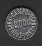 Jeton Chip Token Gettone Fiche Portoroz Casino Slovenia - Casino
