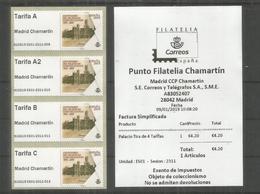 ESPAÑA SPAIN ATM MADRID CHAMARTIN 2019 PALACIO COMUNICACIONES ARQUITECTURA 4 TARIFAS CON RECIBO - 1931-Hoy: 2ª República - ... Juan Carlos I