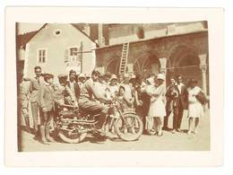 Photo Homme Sur Sa Moto   ( Modèle à Identifier ) La Salle ( Les Alpes ? ) - Photos